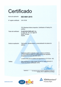 ISO 9001 plásticos ferplast